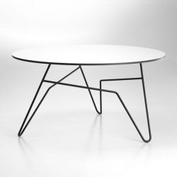 Twist Round Table White | Large