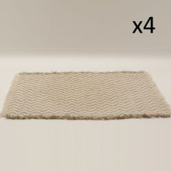 Napperon Fish Grate | Beige | Set de 4