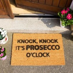 Doormat Prosecco O'Clock