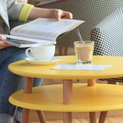 UFO Round Coffee Table | Yellow