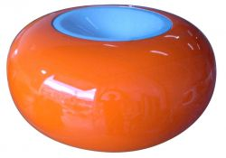 Ufo Table Orange/White
