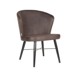 Lounge Chair Tide | Anthracite - Black Metal