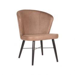 Lounge Chair Tide | Stone - Black Metal
