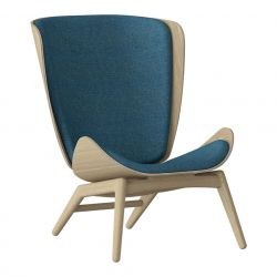 Wing Chair The Reader Oak | Petrol Blue