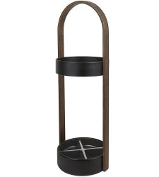 Umbrella Stand Hub | Black & Walnut