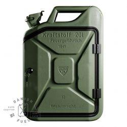 Bathroom Cabinet | Army Green + Oak