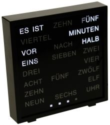 LED Klok Word | Duits