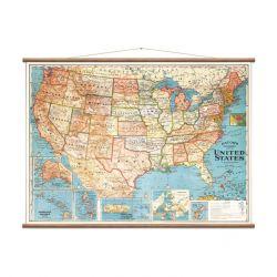 Vintage Karte der Vereinigten Staaten