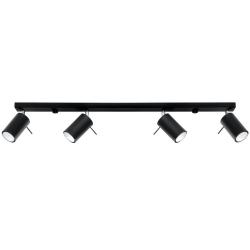 Ceiling Lamp Ring 4L | Black
