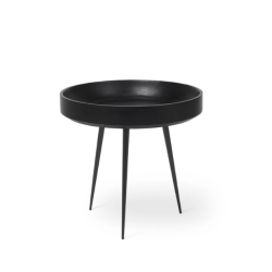 Table d'Appoint Bowl Small | Bois de Manguier Teinté Noir