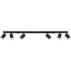 Deckenlampe Ring 6L | Schwarz