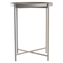 Table d'Appoint en Métal | Gris