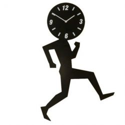 Uomino Wall Clock Black