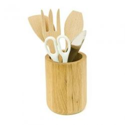 Kitchen Utensil Pot Oak