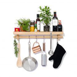 Küchenutensilien Schienenregal