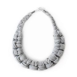 Knotted Necklace | Light Grey