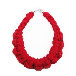 Knotted Necklace | Red