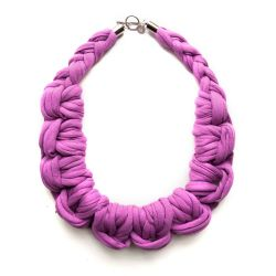 Knotted Necklace | Purple