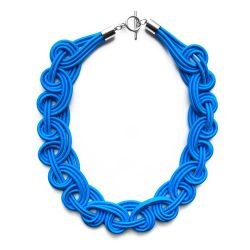 Textile Necklace | Blue