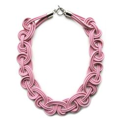 Textile Necklace | Light Pink