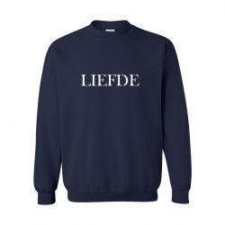Unisex Sweater Liefde | Blau