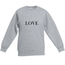 Sweater Unisexe Love | Gris