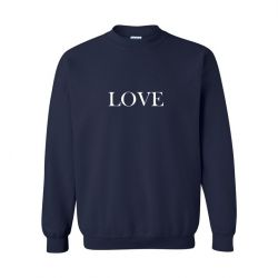 Unisex Sweater Love | Blau