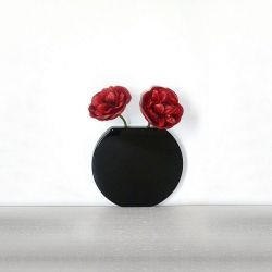 Vanity Round Wall Vase Black