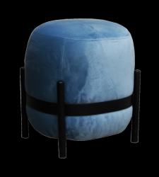 Pouf Vega | Sky Blue & Black