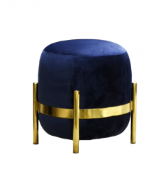 Vega Pouf | Night Blue (Gold or Black)