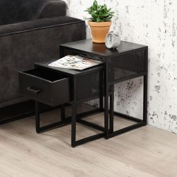 Tables Chevet Blokka Set de 2