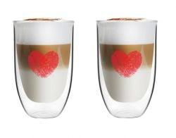 Verre Long Double Paroi 350 ml Set de 2 | Vita Heart