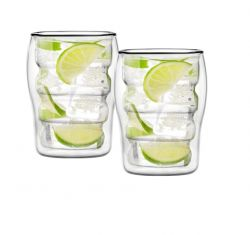Glas met Dubbele Wand 300 ml Set van 2 | Bolla