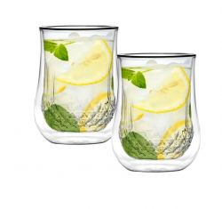 Doppelwandiges Glas 300 ml 2er-Set | Diamante