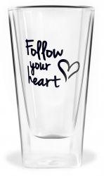 Glas met Dubbele Wand | Follow Your Heart