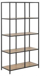 Bookcase Stanley Tall | Black / Oak