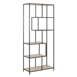 Bookcase Stanley 4 | Black / Oak