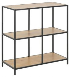 Bookcase Stanley 1 Shelf | Oak/Black