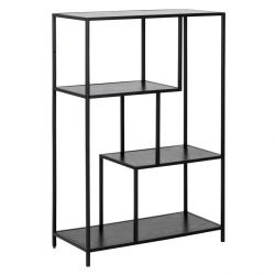 Bookcase Stanley 2 Shelves | Black Ash