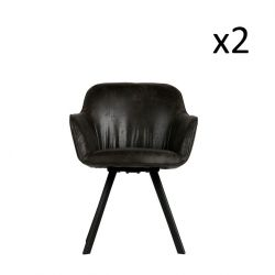 Dining Chair Viggo | Set of 2 | Black