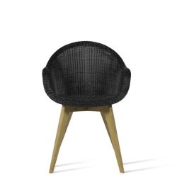 Outdoor Dining Chair Edgard | Black