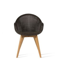 Outdoor Dining Chair Edgard | Mocca