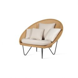 Lounge Chair Joe | Gestell natur & schwarz
