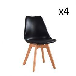 Stuhl Vintage 20 4er-Set | Schwarz