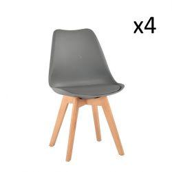 Stuhl Vintage 20 4er-Set | Grau