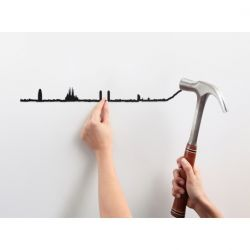 Wall Decoration Barcelona Skyline Small | Black