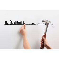 Wanddekoration Sydney Skyline Groß | Schwarz