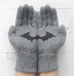 Handschuhe Fledermaus | Hellgrau