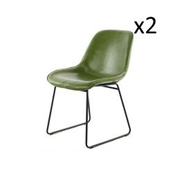 Chair Doris Set of 2 | Green