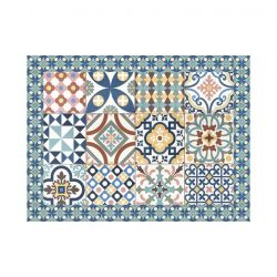 Ensemble de 4 Sets de Table Mosaic | Vinyle Sienne